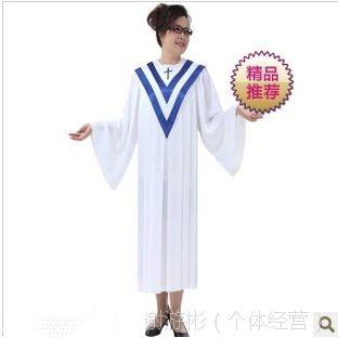 供应基督教诗班圣服长袖北京游彬之家圣诗袍圣诗服教会服装热销A011