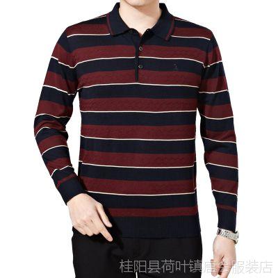 2015新款春装男式长袖polo衫 梦特娇男士翻领T恤休闲男装一件代发