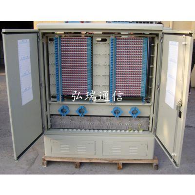 厂家批发大量不锈钢1152芯光缆交接箱光纤配线架网络机柜束状尾纤光纤跳线SMC配线箱光纤分纤箱通信