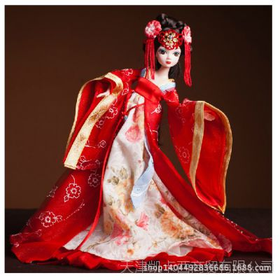 可儿娃娃古装衣服唐韵佳人关节体儿童洋娃娃女孩芭比玩具女生礼物