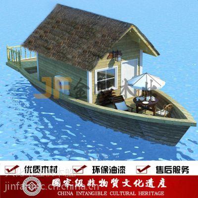 厂家供应电动观光旅游画舫木船 仿古手划乌篷船 手工制作实木渔船欧式木船