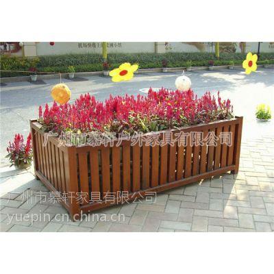 广场实木花箱厂家,户外组合花箱,广场装饰花箱