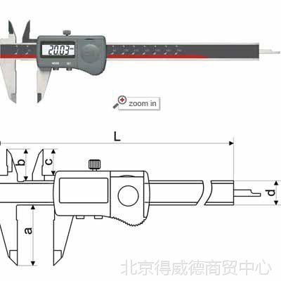供应广陆防水型数显卡尺110-601 150MM 200MM
