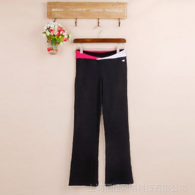 外贸原单  亲子装休闲运动长裤  微喇裤中腰修身显瘦休闲裤P98A
