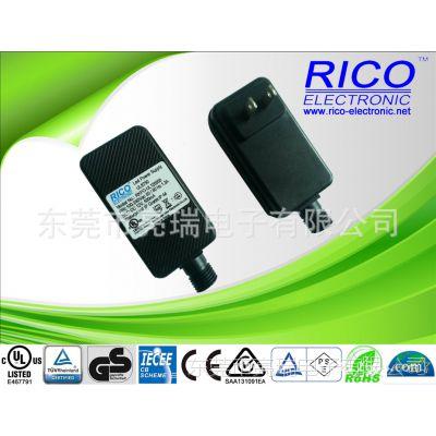 供应美规UL认证12V.600mA7.2W防水电源.灯条灯带IP44防水电源