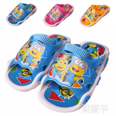 可爱卡通有响声儿童鞋叫叫鞋 两用宝宝凉拖鞋 夏季凉拖男女童凉鞋