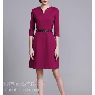 绿洲职业装女套装短袖西装 办公室工作制服OL韩版女套裙