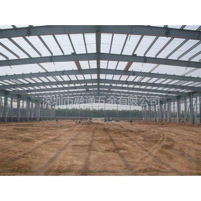 供应专业门式钢架制作 钢架雨篷制作 图片