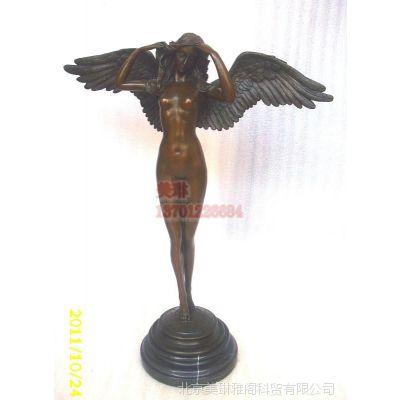 西洋女性雕塑 铜雕工艺品摆件,欧式摆件 人物铜雕