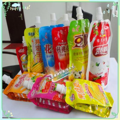 自立小吸嘴袋 异形吸嘴袋 果汁/蜂蜜铝箔自吸式 牛奶袋、饮料袋、豆浆袋