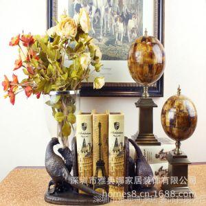 供应雅典娜家居 欧式古典风格 纯铜对鸟书靠 客厅装修样板房 书房装饰