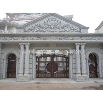 供应鑫杰批发铸铝门 豪华铸铝别墅大门  艺术门 铝质门  整套门