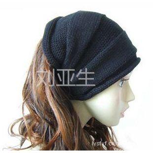 供应2012新款帽子批发秋冬季男士格子毛线帽冬帽针织帽空顶帽 头套