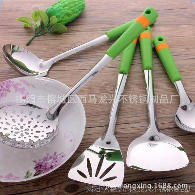 厨房用品 不锈钢餐厨具 烹饪铲勺批发 锅铲汤勺 1.2厘防烫夹柄