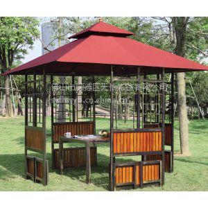 供应户外家具、铁木四脚凉亭、花鸟亭、公共场所家具