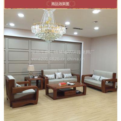 江苏美希恩金丝木610#原木休闲沙发 L型实木沙发 原木客厅家具 厂家直销