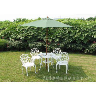 铸铝情人五件套 别墅铸铝花园桌椅 铸铝户外桌椅 休闲家具 欧式