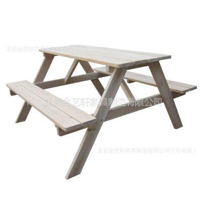 供应岩轩 儿童桌椅 学习 餐桌 连体桌 烧烤