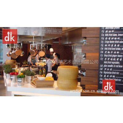供应特色餐厅设计装潢,自助餐台设计制作,自助餐台配套餐厨用品,