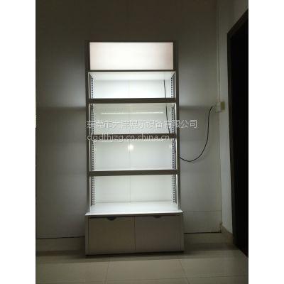 大沣DF-011带灯箱木制货架精品超市货架化妆品展示柜