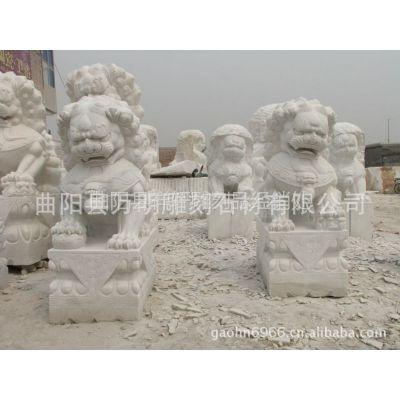供应生产石雕狮子工艺品摆件|汉白玉狮子|传统狮子 现代蹲狮子|石狮子