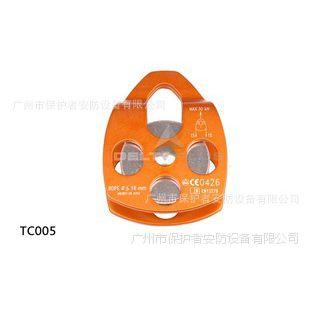代尔塔TC005 (509005)高空作业及救援铝制单滑轮 16mm 安全滑轮