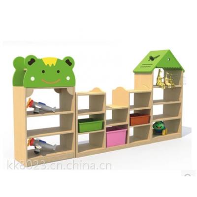 供应西昌幼儿园书架书包柜实木材质