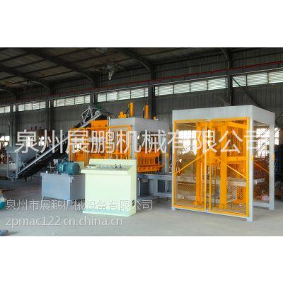 QT8-15水泥砖砖机 标砖砖机供应商 透水砖砖机展鹏机械提供