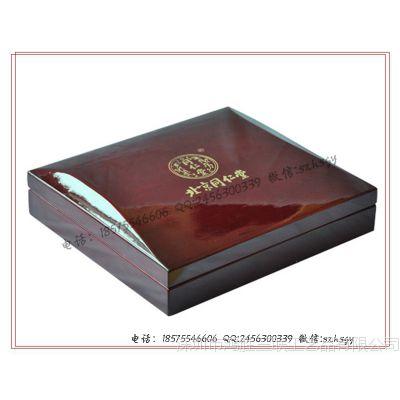 北京同仁堂虫草盒 药品木盒 木制药品包装盒 保健药木盒包装订做