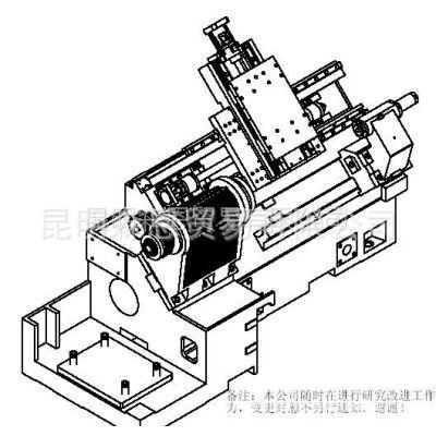 供应台正斜床身卧式数控车床光机TOM-TCK4545加工长度400