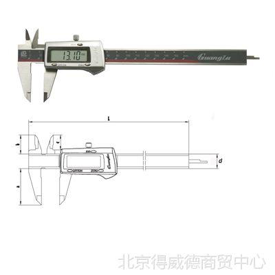 供应广陆3V锂电数显卡尺111N-101V-10G 150MM 工具