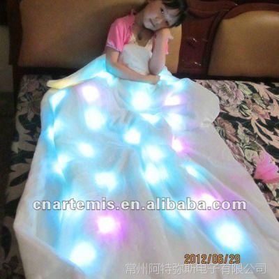 发光毯子 可定制的发光毯子 七彩颜色可定制发光毯子