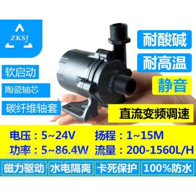 微型直流水泵,扬程5-15米,流量900-1560L/H ,功率86.4W