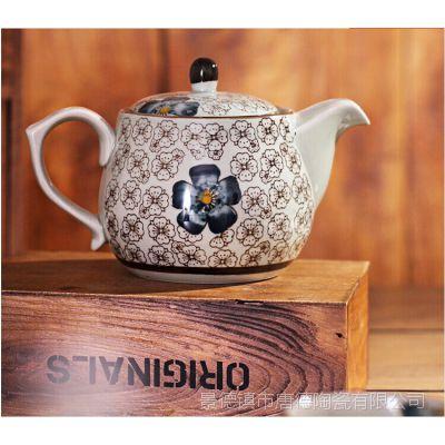 景德镇茶具 提手茶具6件套 陶瓷整套茶具 釉下彩茶具套装 礼盒装