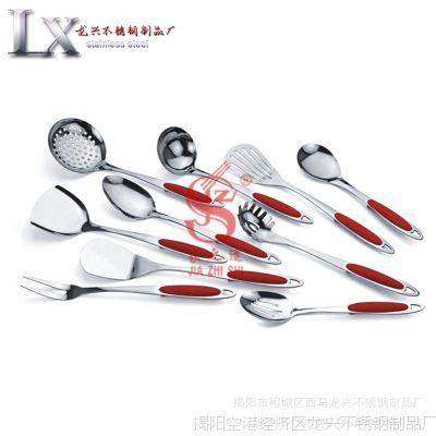 高档不锈钢餐厨具 电木夹柄铲勺套装 厨房 酒店用品具 低价批发