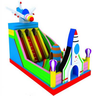 供应厂家直销爆款飞机航天城 大型新款充气滑梯 河南儿童充气蹦蹦床飞机模型