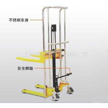 供应意罗/脚踏式轻型堆高车/HTS01039-0041/手动堆高车/