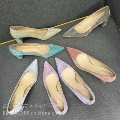 加工中高档真皮女鞋高跟鞋广州皮鞋加工厂