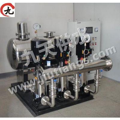 供应无负压供水设备的特点