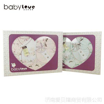 婴儿礼盒满月礼娃爱的婴儿春装礼盒五件套宝宝纯棉内衣新生儿礼盒