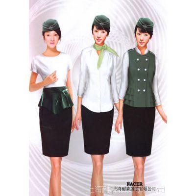 上海服装厂定做促销服 分体【小外套搭配短裙】墨绿色促销服定制