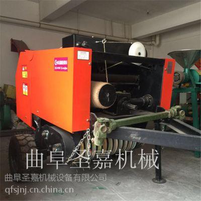 江苏全自动麦秸打包机生产厂家 圣嘉圆捆包草机操作视频