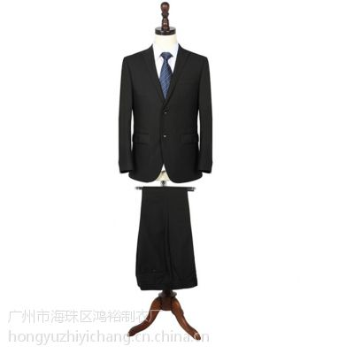鸿裕男士西装套装西服外套男士商务职业正装韩版修身黑色单排扣西装
