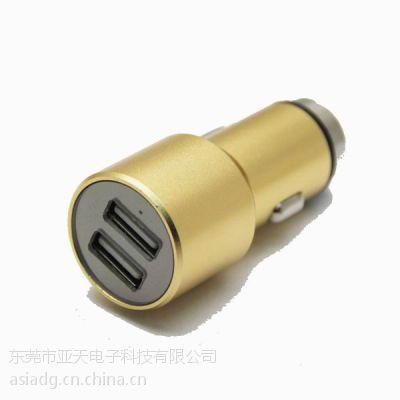 亚天热销金属锤子车充 CE认证车载点烟器 GPS导航行车记录仪车载充电器 安全锤子双USB车充