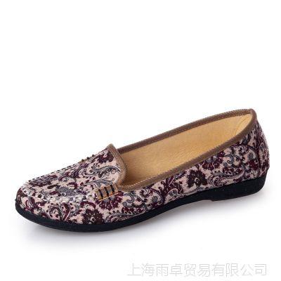夏季正品老北京布鞋女单鞋老人鞋网鞋软底妈妈鞋休闲鞋洞洞鞋