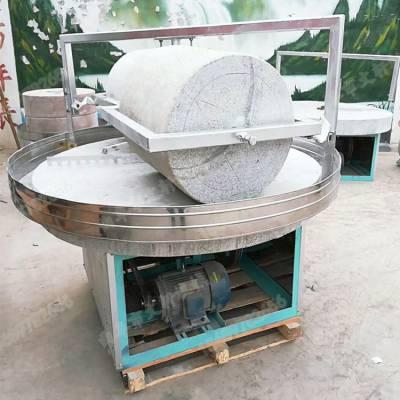 广东多功能电动米粉石磨机 文轩新型豆腐花电动石磨磨浆机