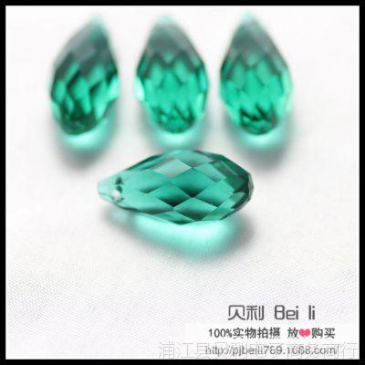 厂家批发10*20MM立体水滴 水晶玻璃珠  diy饰品配件 鞋服珠饰材料
