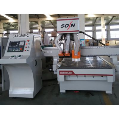 双工位双工序+数控木工雕刻机 SX1350B-2 生产厂家 青岛晟森