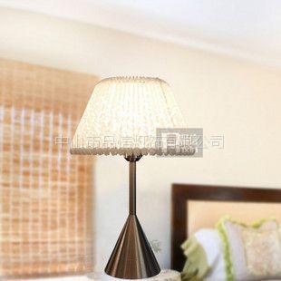 供应灯饰灯具批发现代简约PVC台灯 客厅灯具 卧室床头灯饰5115/1T