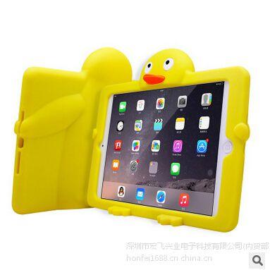 俊奇Jun-Q19 ipad air2企鹅防摔平板保护套 苹果硅胶平板保护套 厂家批发定制